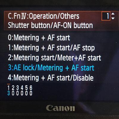 Auto Focus - Setting Back Button Focus