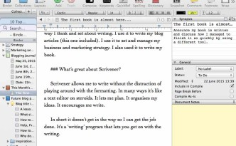 Blogging with Scrivener