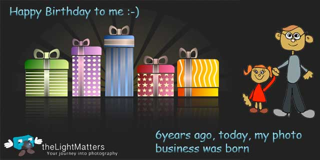 Photography Business 6 Years Old -- Happy Birthday